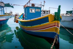 Boat Anchored in Malta