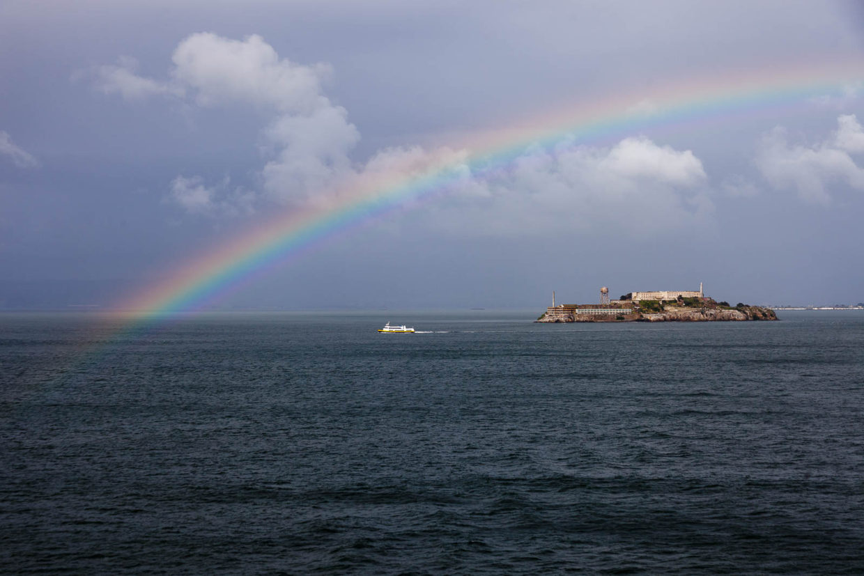 Rainbow over Alkatraz