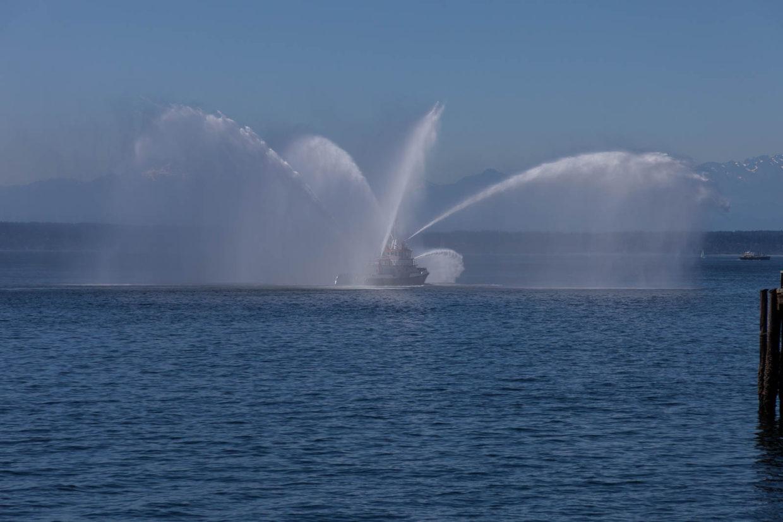 Fire Boat near Seattle